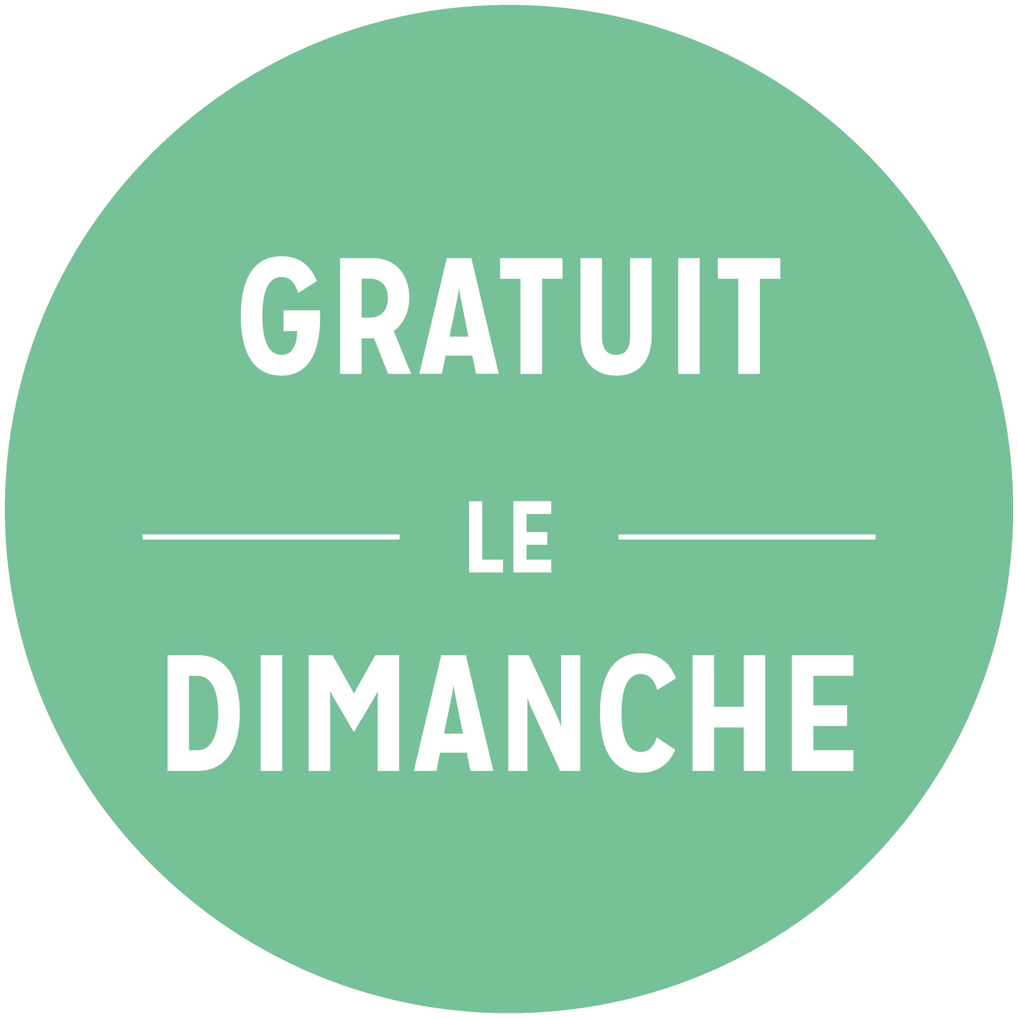 GRATUIT le DIMANCHE