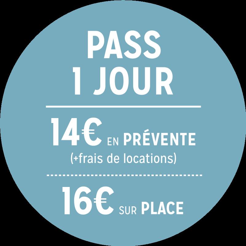 PASS 1 JOUR - 12€/15€